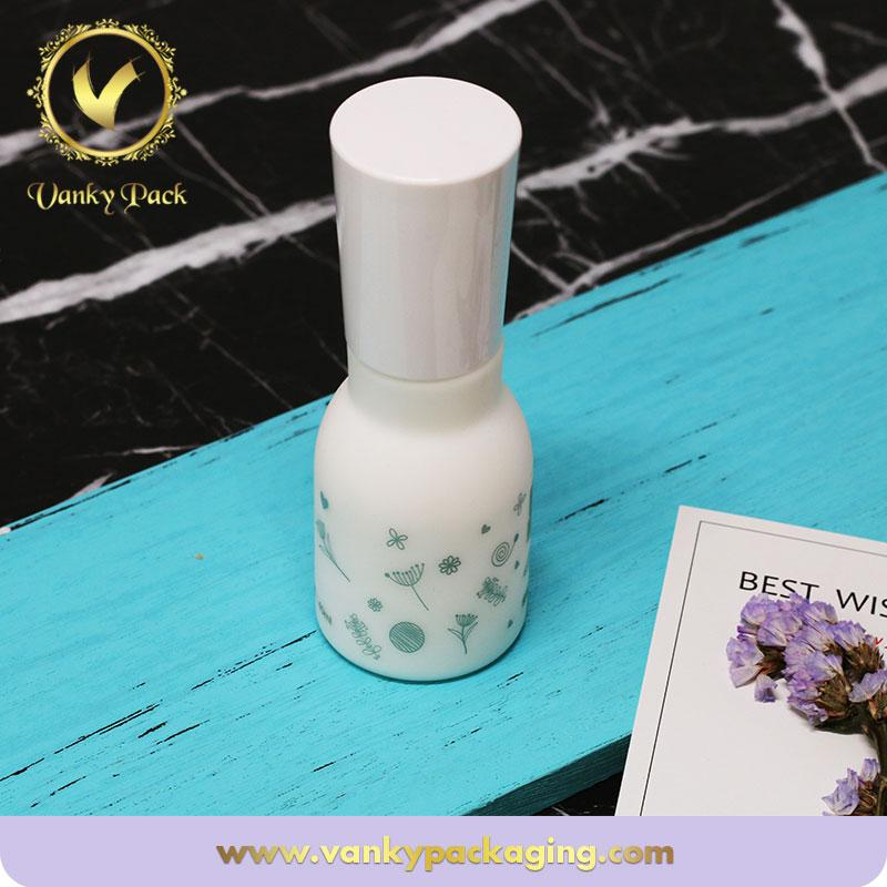 90g  White Color Skin Cosmetic Empty Glass Jar