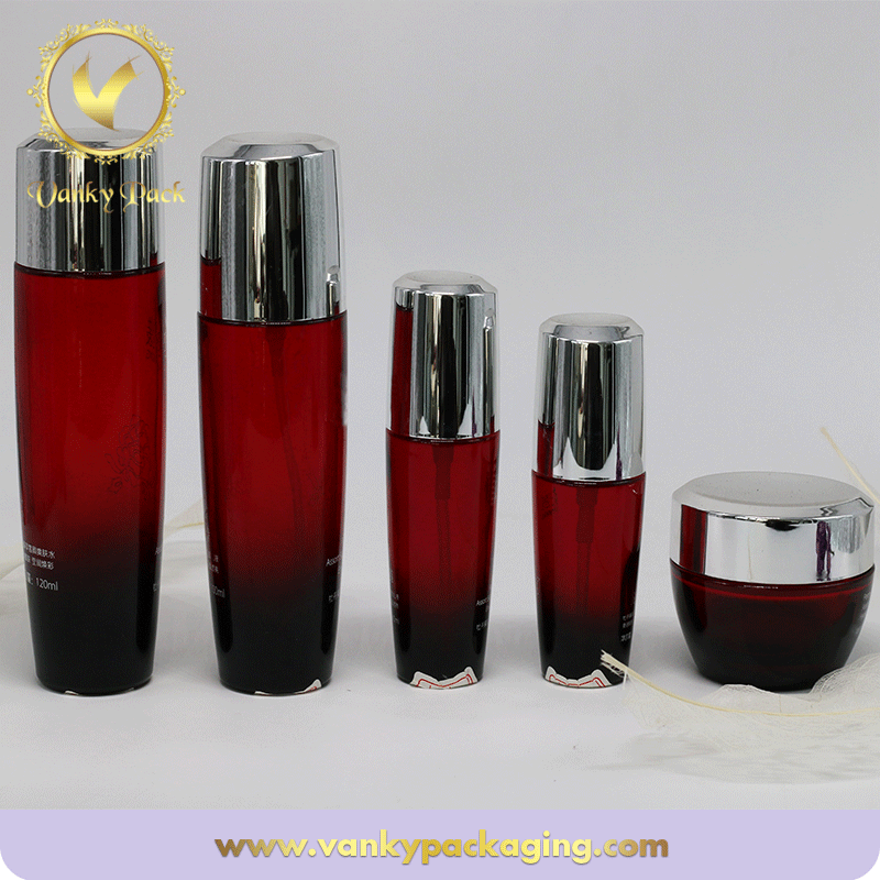 30ml 50ml Coloured Glass Cosmetic Jar Cream Empty Glass Jars and Bottle For Serum/Lotion/Perfume
