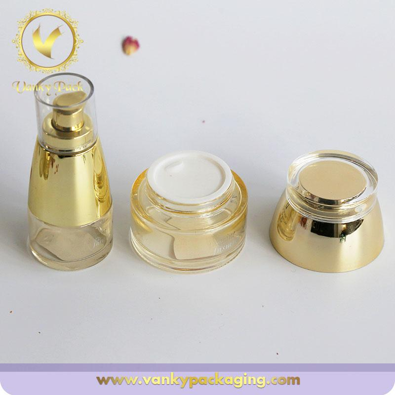 50ml Frosted Glass Jar with Lid For Skin Care