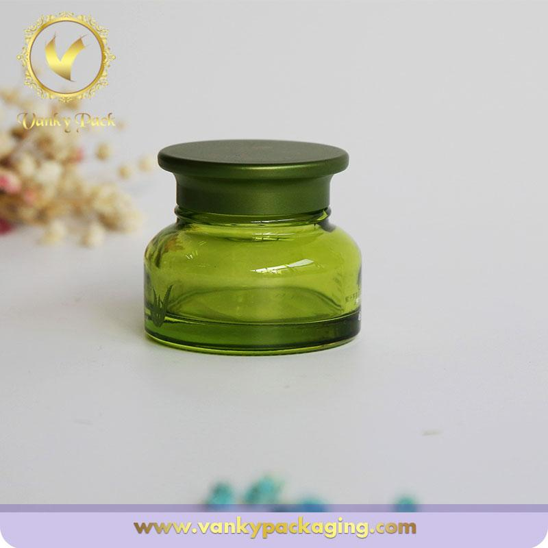 Cosmetic Oval Glass Jar