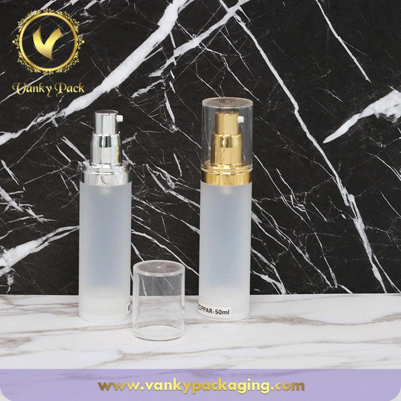 50ml 30ml 20ml 15ml Airless Bottle for Cosmetic Packaging Lotion Airless Pump Bottle Sets Perfume Vacuum Pump