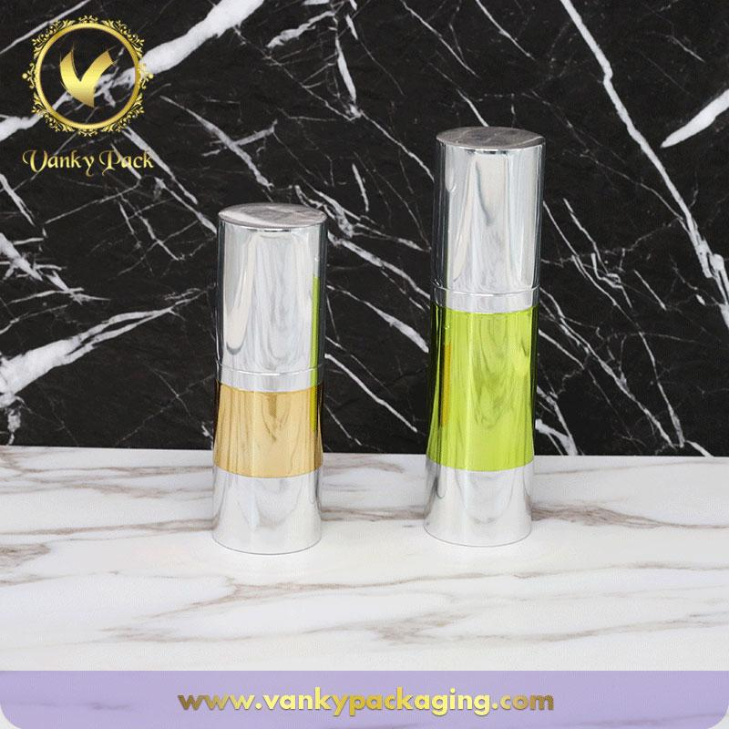 Round Colored Cosmetic Vacuum Pump Bottle 30ml 50ml Customized Airless Lotion Pump
