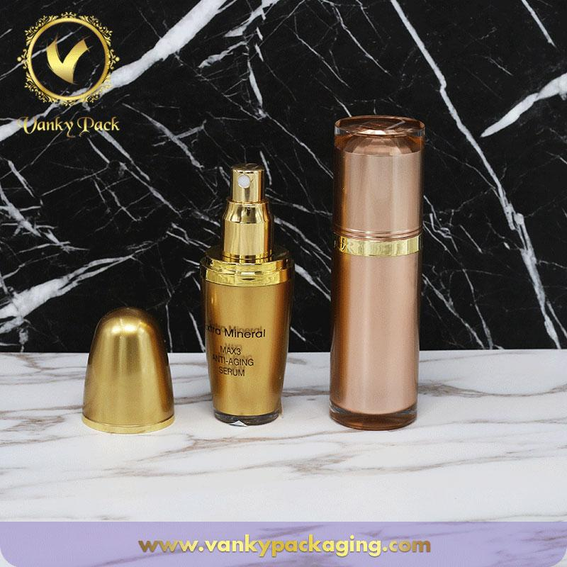 Good Quality Color 15ml 30ml 50ml plastic Cosmetic Vacuum Serum Bottle Airless Lotion Pump