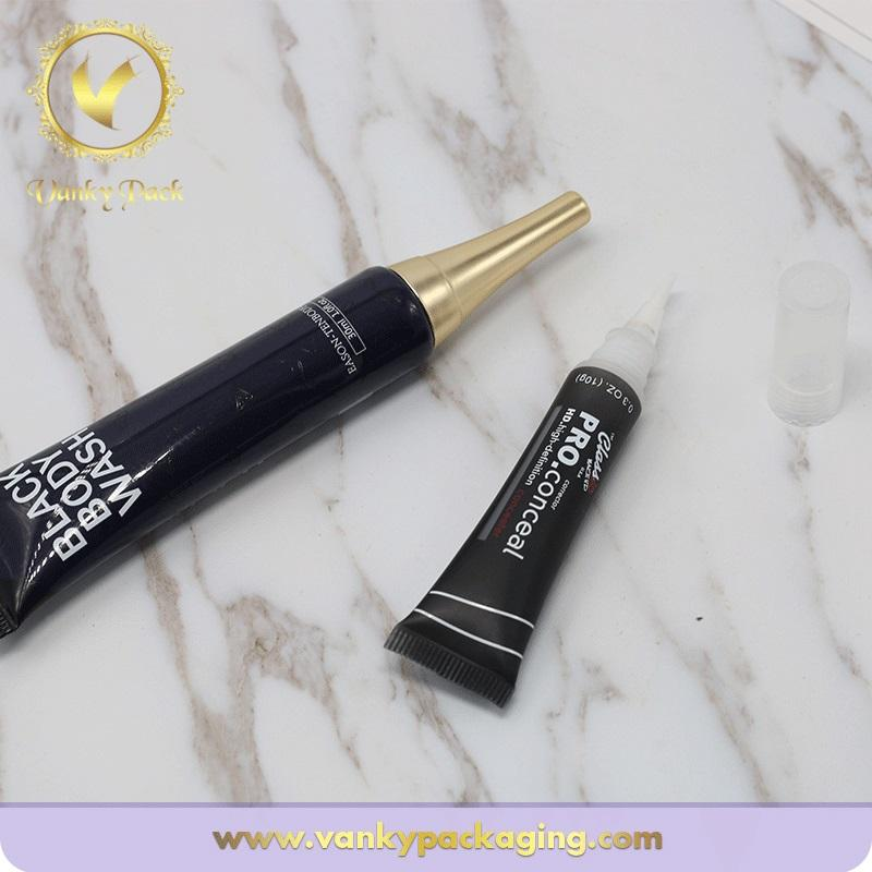 Cosmetic Cream Packaging Tube With Soft Sponge Applicator