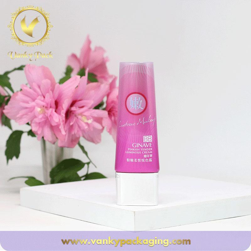 Super oval face cream tube empty plastic tube for cosmetic sunscreen