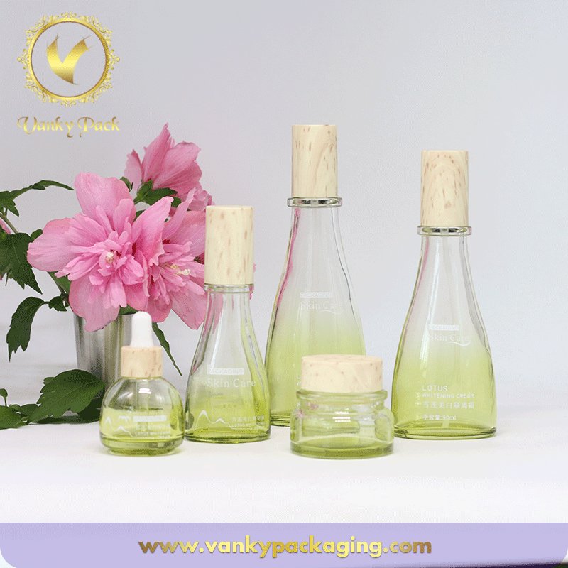 Family Series UV Colored Coated Glass Bottles And Jars With UV Cap