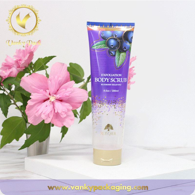 50mm Diameter clear plastic cosmetic tube packaging for bath salt