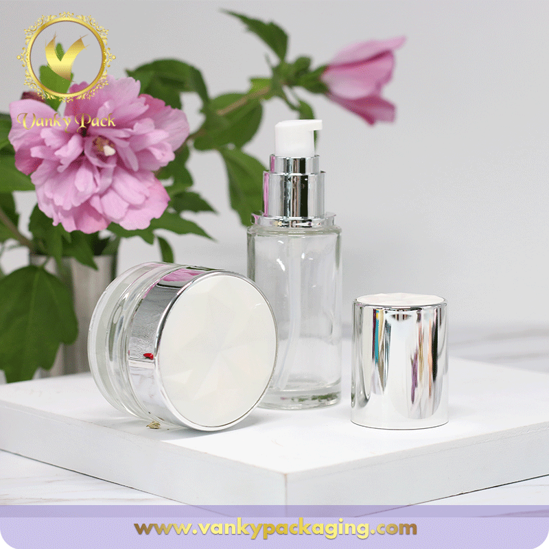 Whole Sale Series Cosmetic Bottle And Jar With Screw Cap and Press Pump Packaging