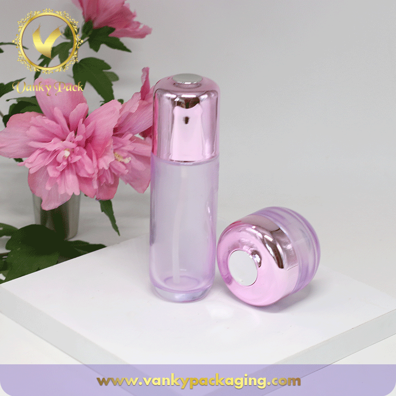 UV Printing Scew Cap And Transparent Glass Bottle For Cosmetic Packaging