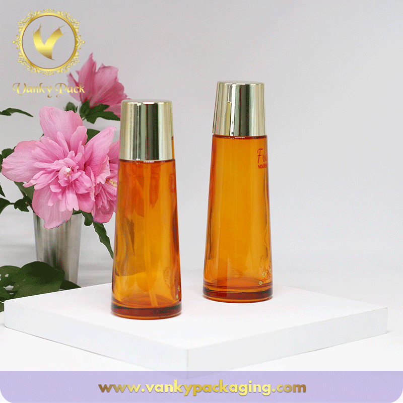 UV Coated Colored Glass Bottle And Bottle Container For Cosmetic Packaging