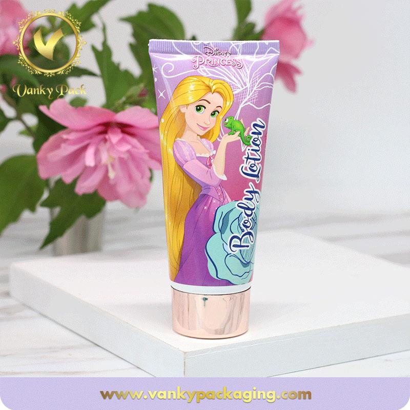 40mm Diameter plastic cosmetic packaging tube girl hand cream packing tube