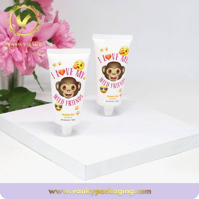 Hot sale carton hand cream cosmetic plastic tubes 60ml