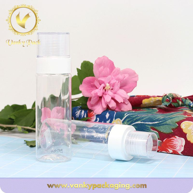 Hot sale Clear Plastic 100ml Bottle Cosmetic Shampoo Bottle With screw Cap