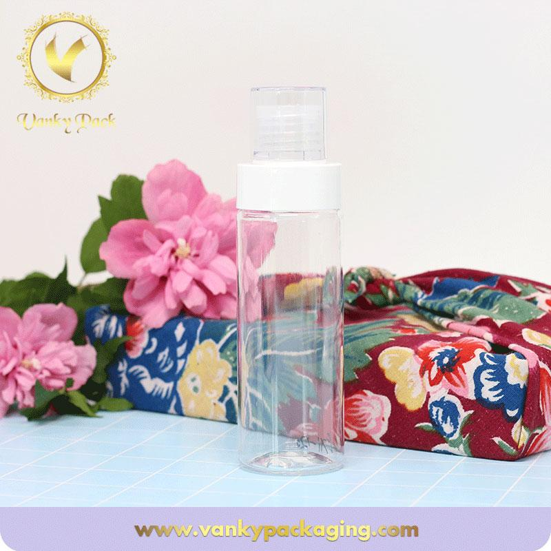High quality clear empty shampoo transparent bottle cosmetic plastic bottle