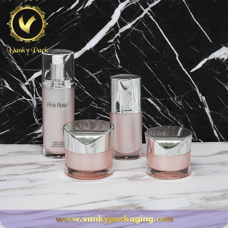 Hot Sale Whole Series Acrylic Bottles And Jars Packaging For Cosmetic