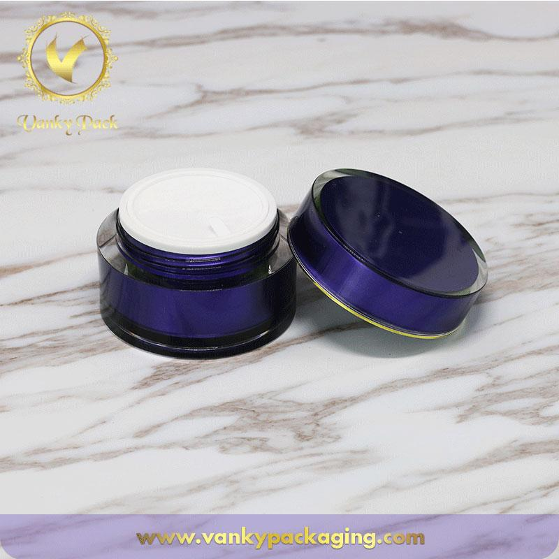 UV Printing Plastic Acrylic Cream JarWith Screw Cap For Cosmetic Packaging