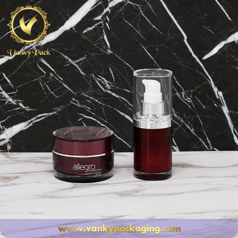 UV Printing Plastic Acrylic Cosmetic Cream Jar With Screw Cap Packaging