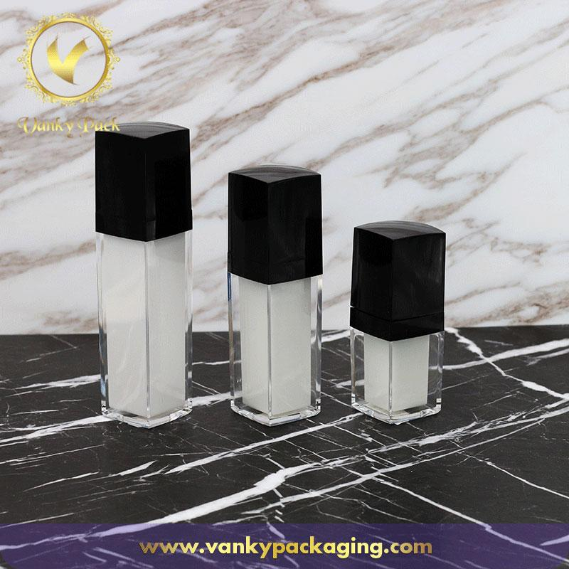 Famliy Looking Whole Series Square Shape Acrylic Bottles Packaging