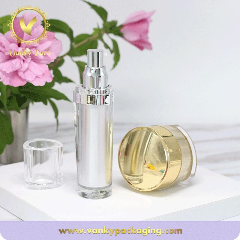 Triangle Shape Serum Plastic Bottle With Spring Press Pump