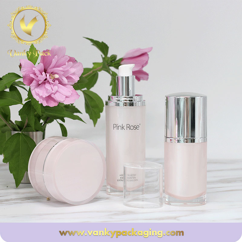 Family Looking Whole Series Plastic Acrylic Packaging With Pump And Cap