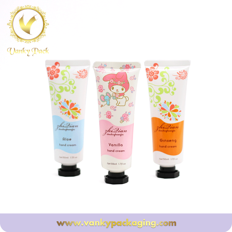 Pe Plastic Soft Cosmetic Tube With Cap For Hand Cream Packaging Tube