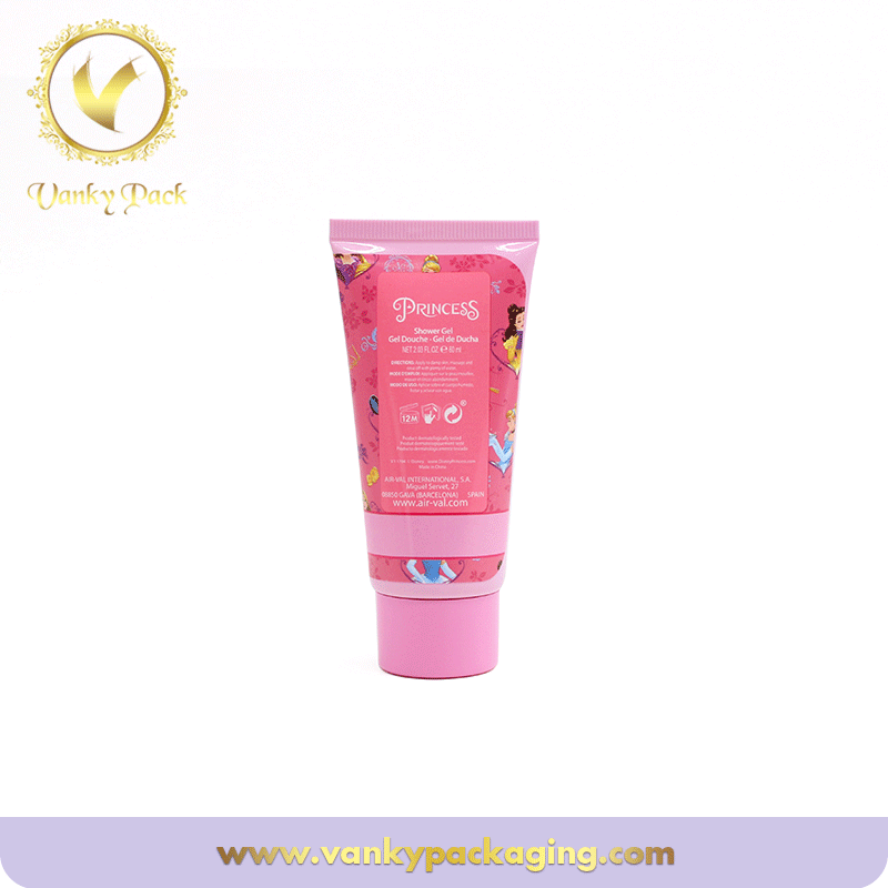 Plastic Soft Cosmetic Packaging Tube With Screw Cap