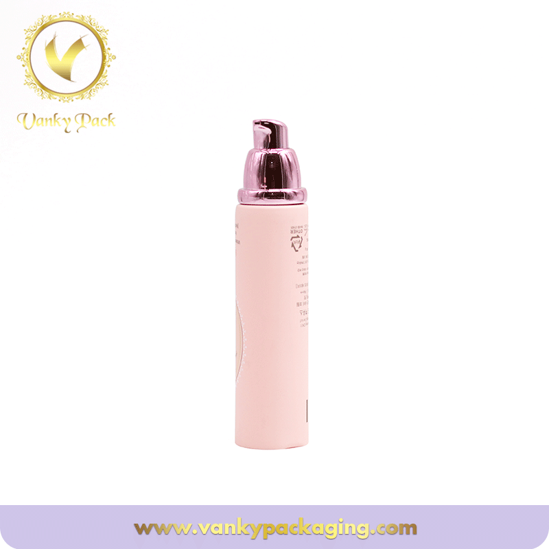 Hot Stamping Empty Soft Cosmetic Packaging Tube With Pump And Cap