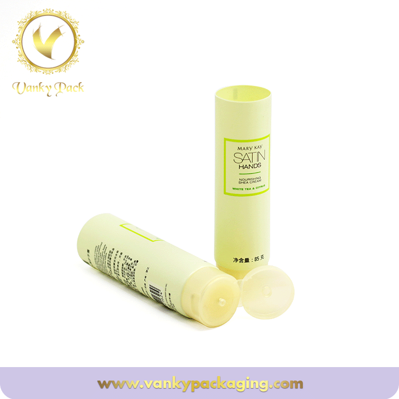 Large Cosmetic Plastic Pe Round Tubes For Pacagking Cream Lotion With Flip Cap