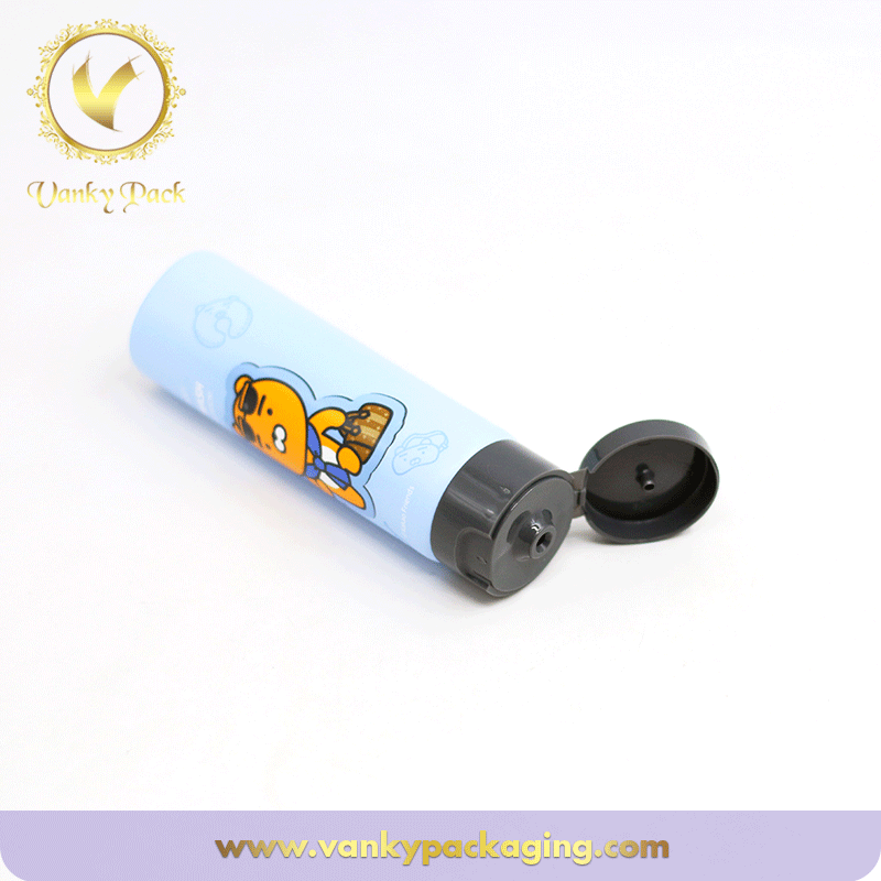 Cartoon Printing Plastic Tube Cosmetic Tube For Flip Cap