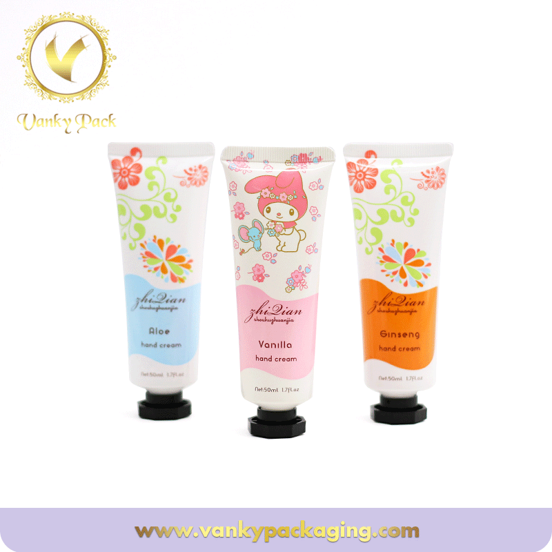Cosmetic Lotion Tube Plastic Packaging With Beautiful Screw Cap