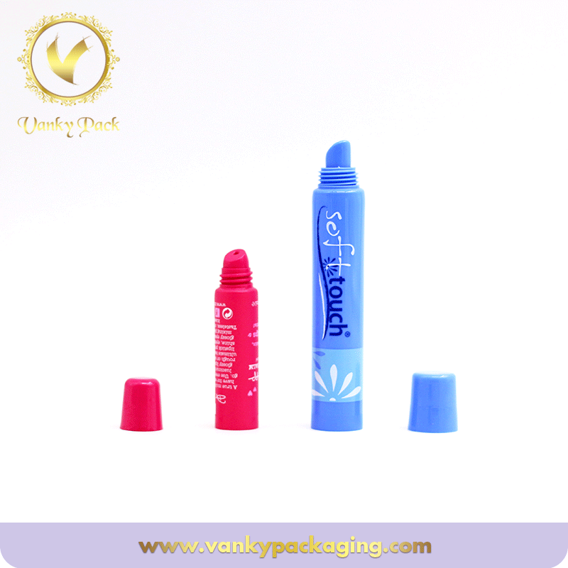Cosmetic Customized Plastic Airless Soft Squeeze Tube For Lip Gloss