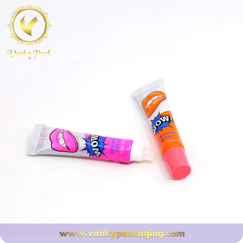 Exquisite Plastic Cosmetic Packaging Tube For Lip Care