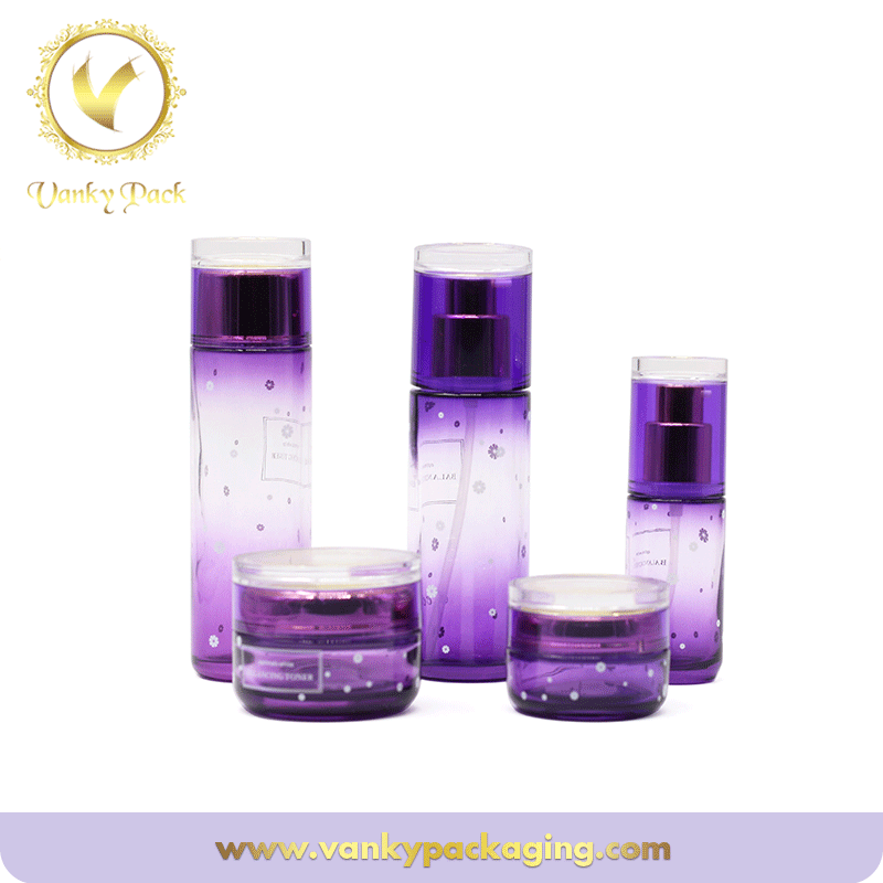 Luxury Skincare Cosmetic Containers 30ml 50ml Glass Bottle packaging