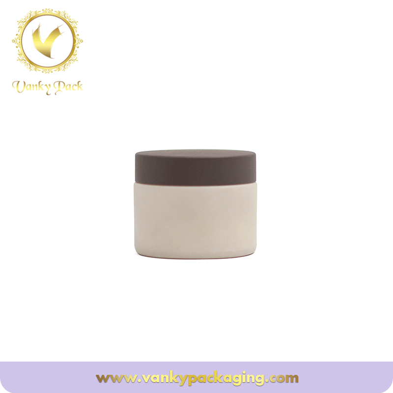 Cosmetic Customized White Glass Jar with customized lid