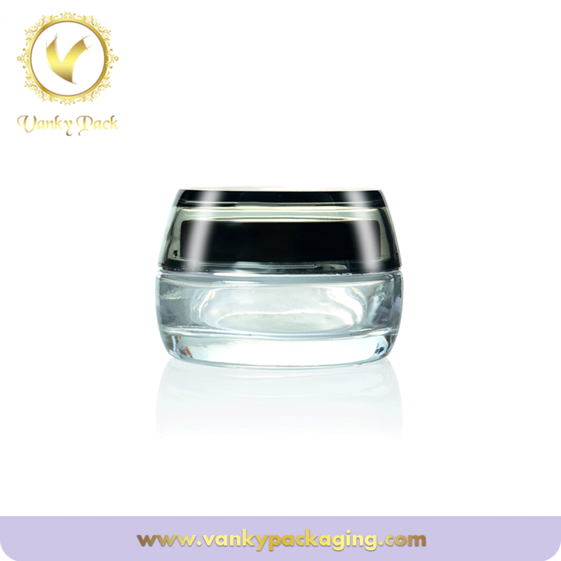 Skin care clear glass cream jar mask jar cosmetic use