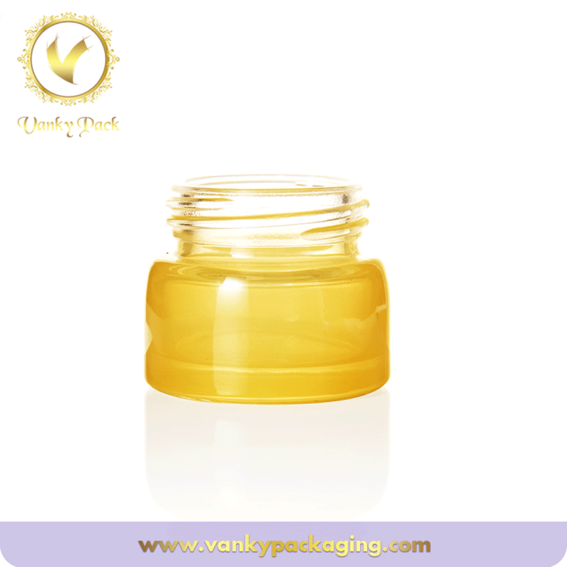 Skin care facial cream empty glass jar packaging
