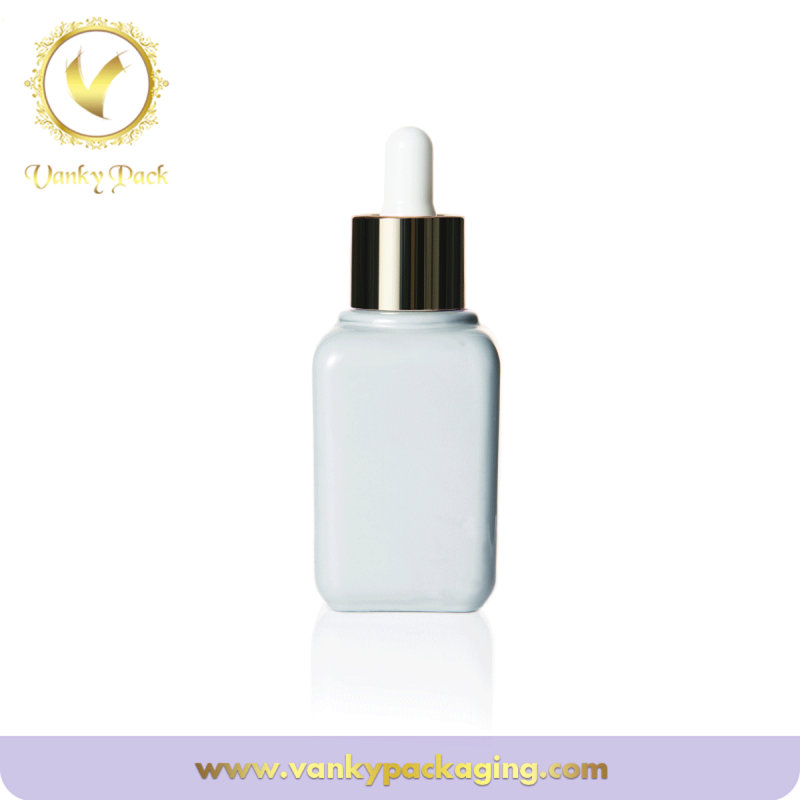 Skin care white glass cream bottle cosmetic use