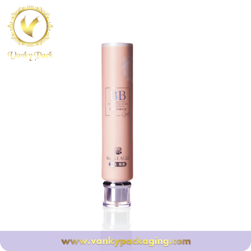 Round Plastic Cosmetic Tube Packaging With screw on Cap