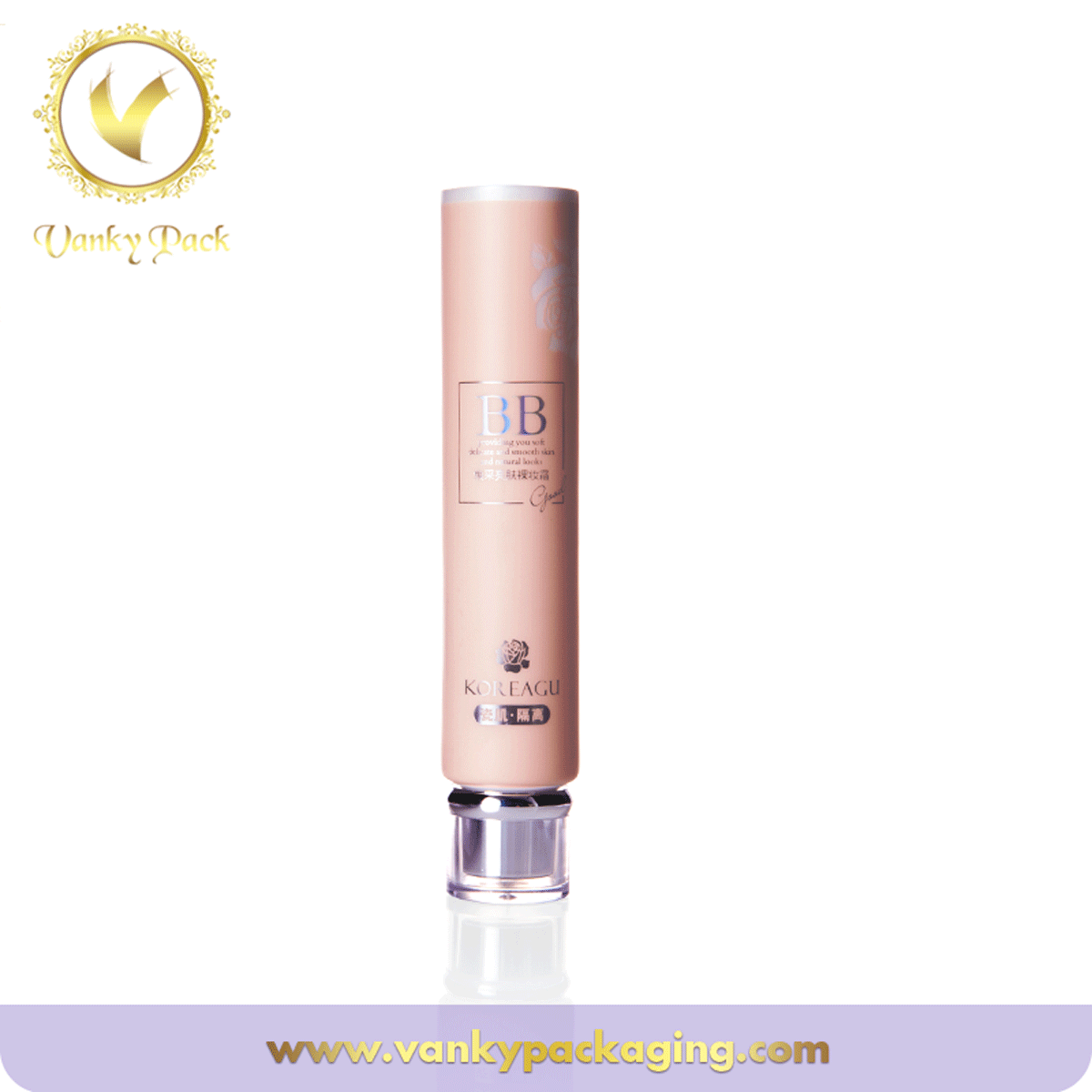 Cosmetic squeeze tube packaging with flip lid